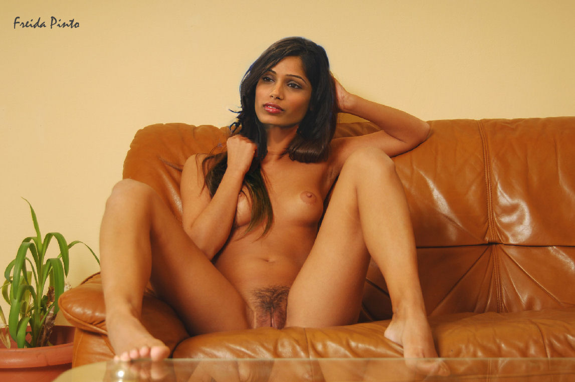 Freida Pinto boobs show